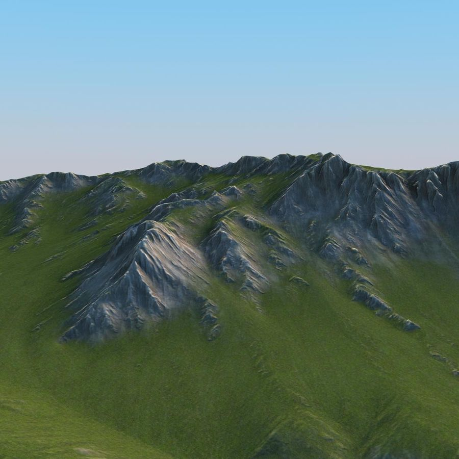 Berglandschaft royalty-free 3d model - Preview no. 17