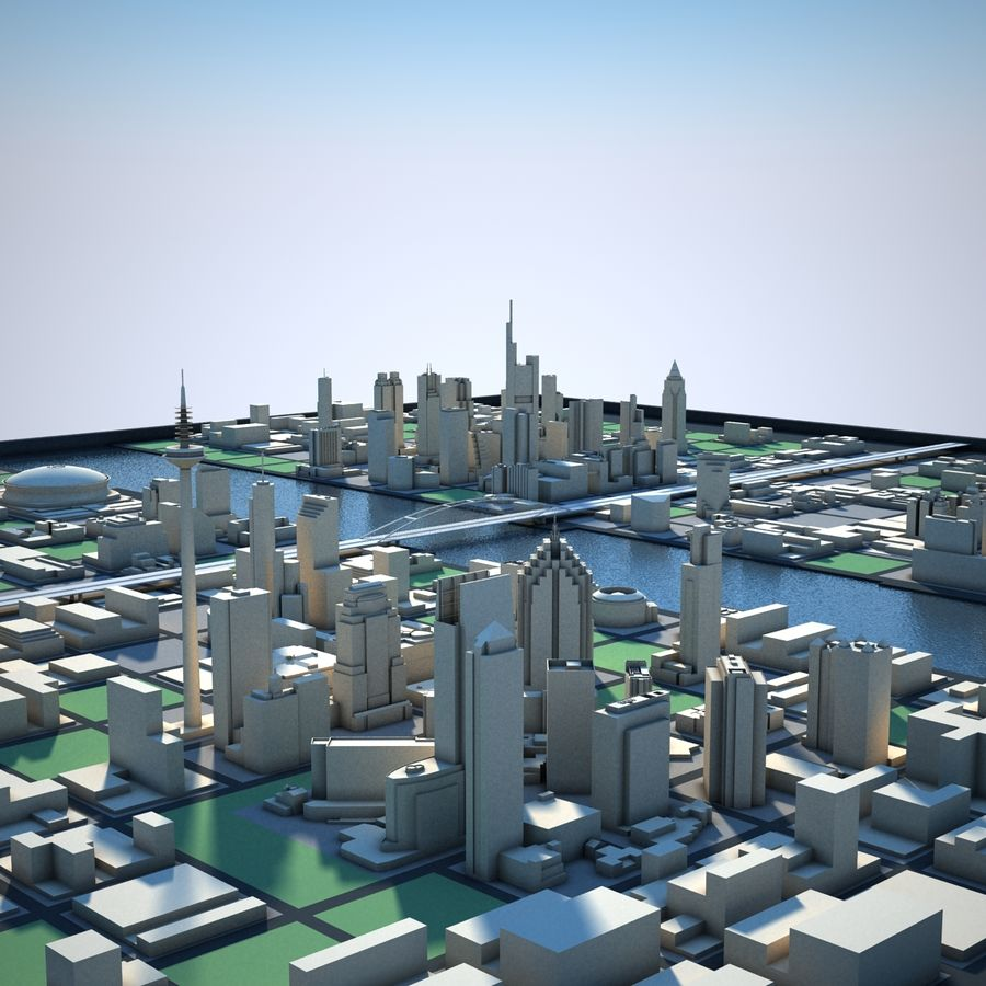 River City royalty-free 3d model - Preview no. 4