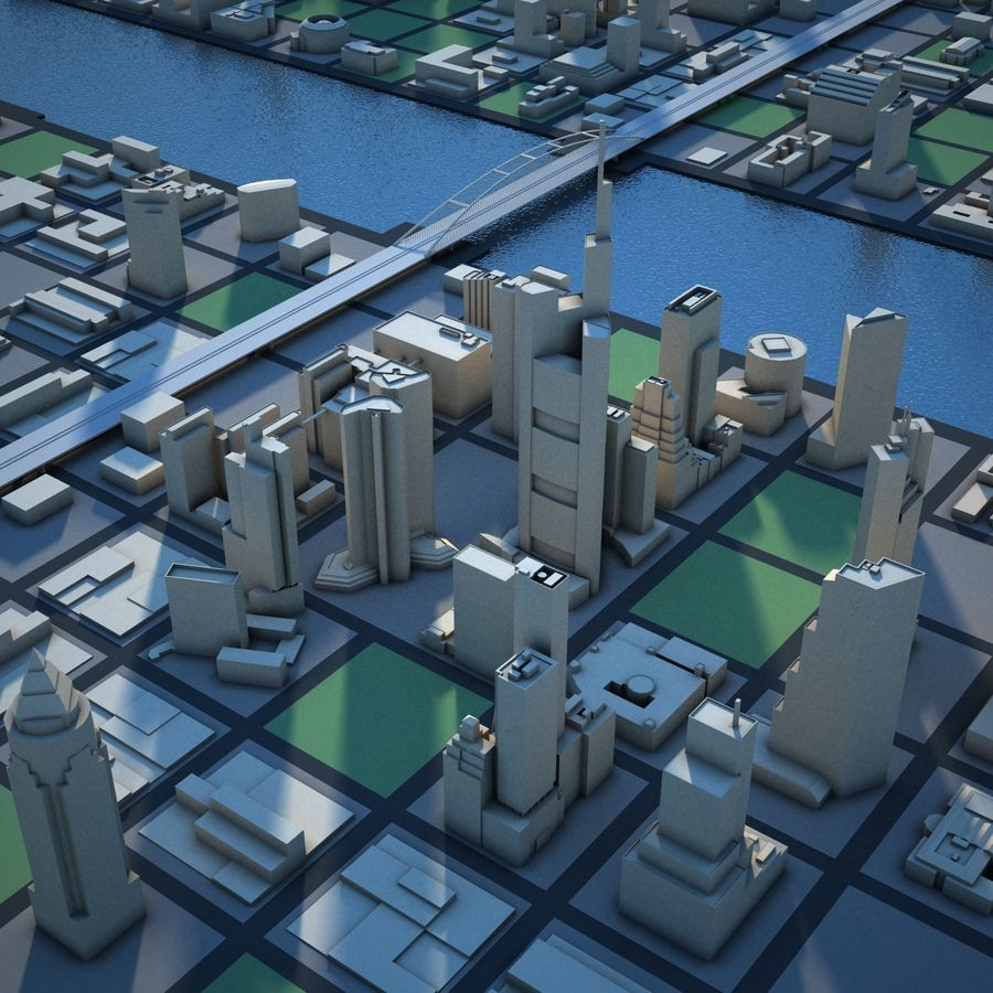 River City royalty-free 3d model - Preview no. 7