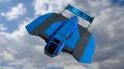 Il pipistrello blu 3d model