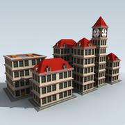 模块化卡通建筑 3d model