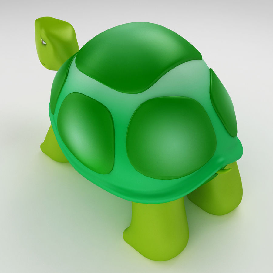 Young Turtle tortoise royalty-free 3d model - Preview no. 3