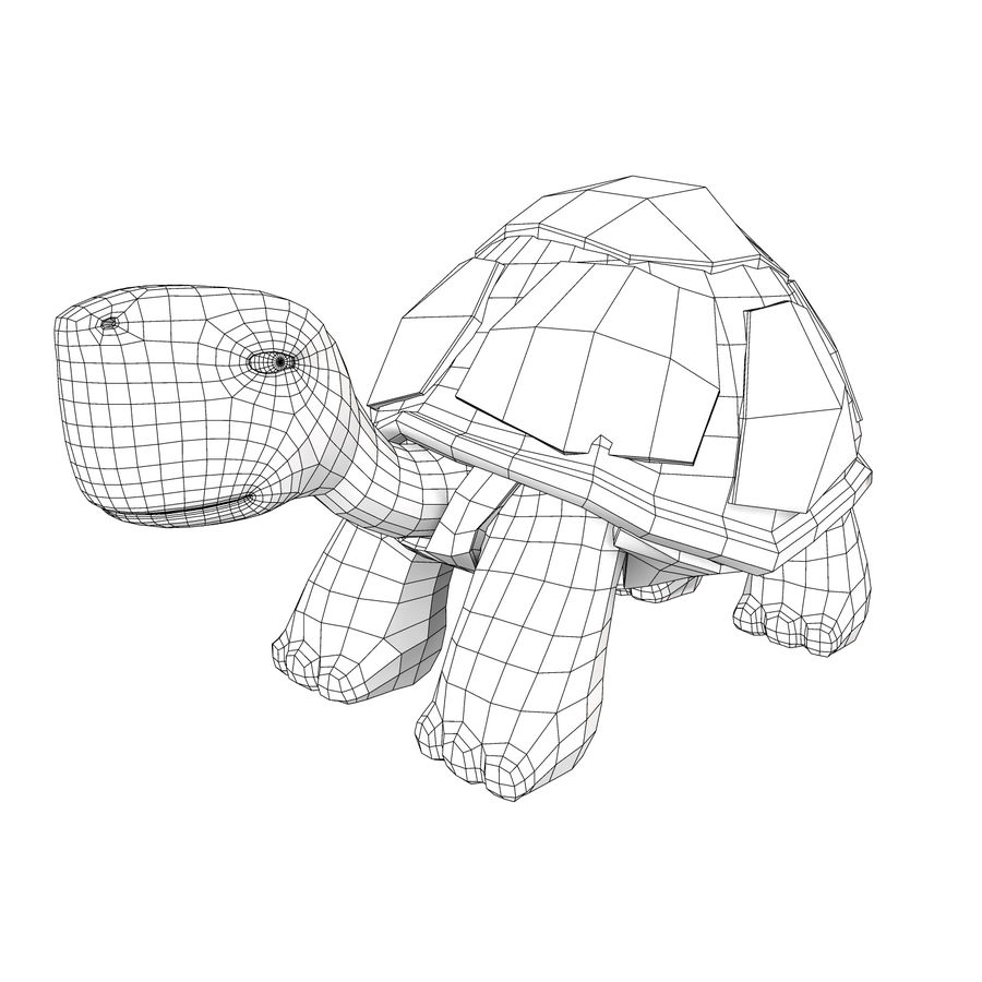 Young Turtle tortoise royalty-free 3d model - Preview no. 6