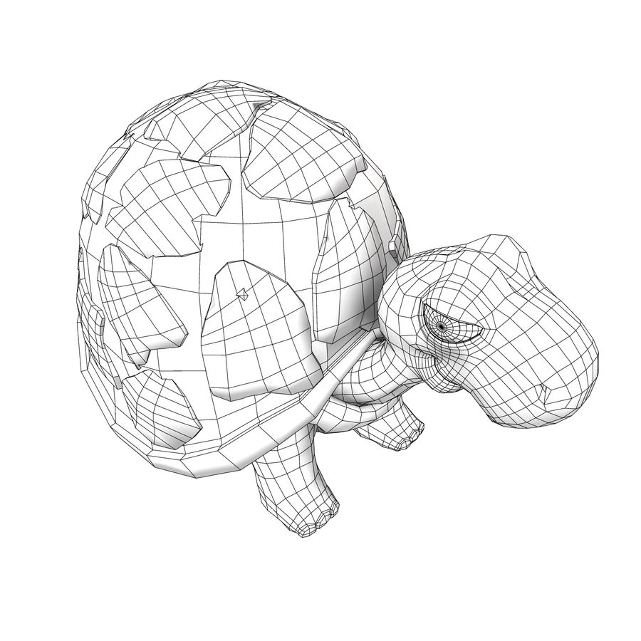 Turtle Tortoise old royalty-free 3d model - Preview no. 6