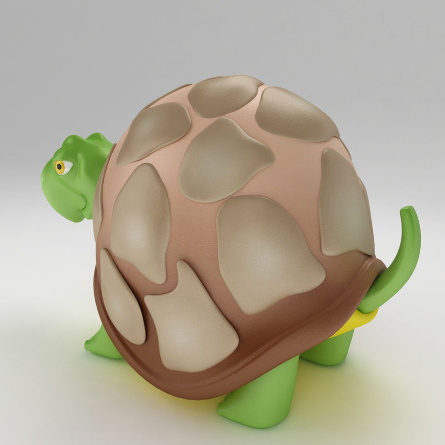 Turtle Tortoise old royalty-free 3d model - Preview no. 3