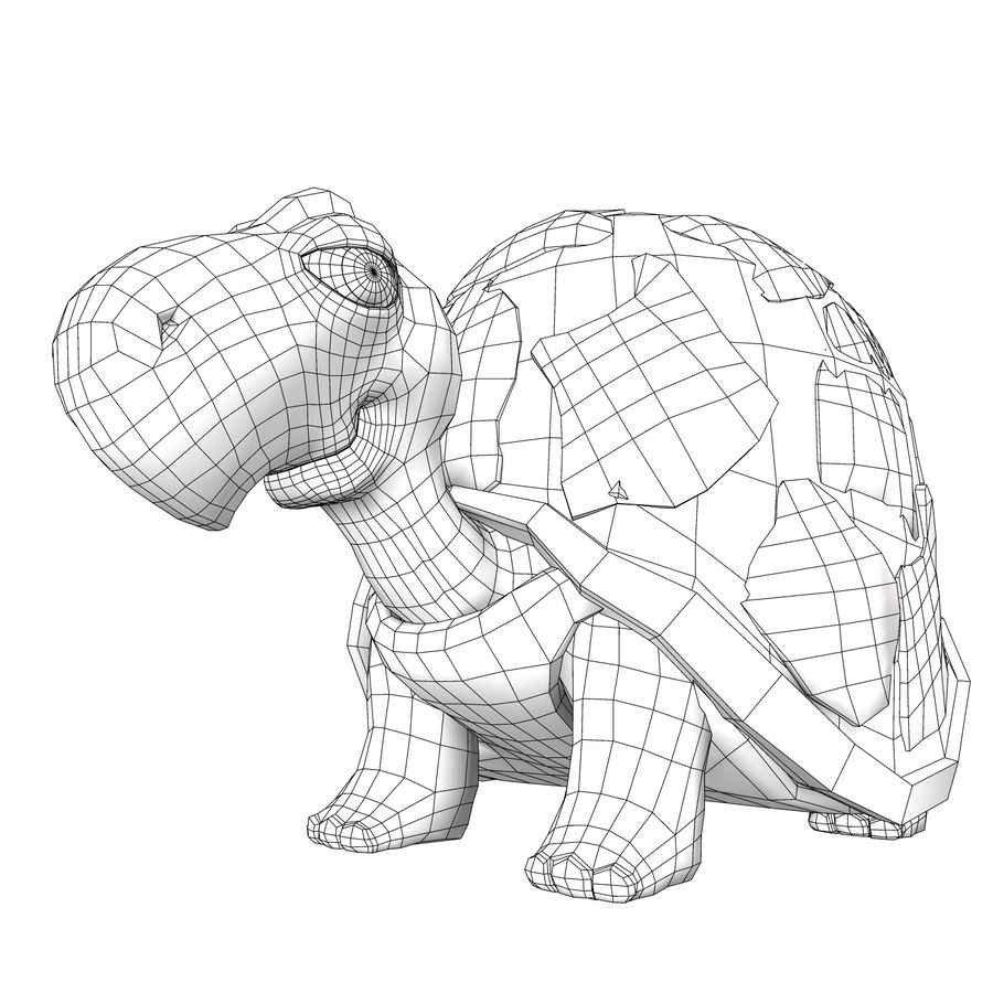 Turtle Tortoise old royalty-free 3d model - Preview no. 7