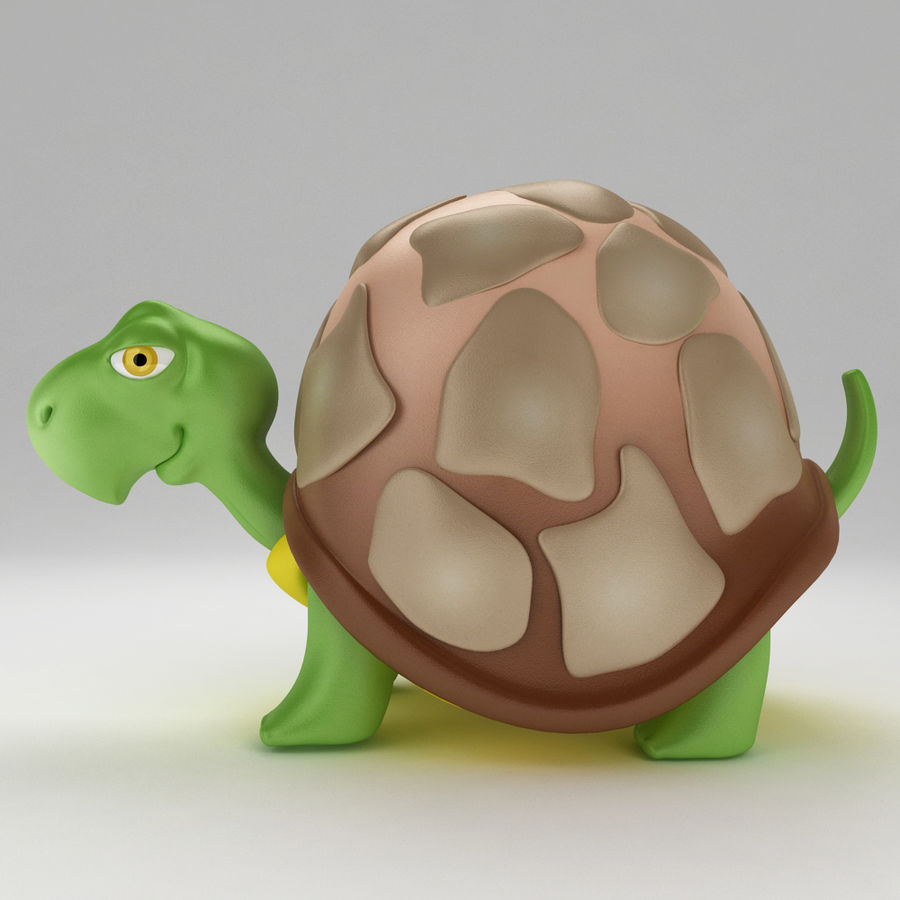Turtle Tortoise old royalty-free 3d model - Preview no. 2