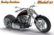 Kolekcja Harley Davidson - Model 01 3d model