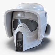 Scout Trooper Helmet 3D Model 3d model