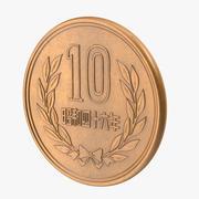 10 jenów Japonia 3d model
