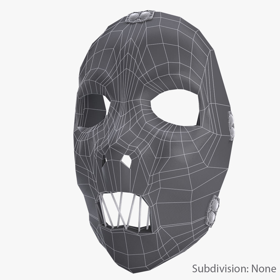 Mask SlipKnot royalty-free 3d model - Preview no. 8