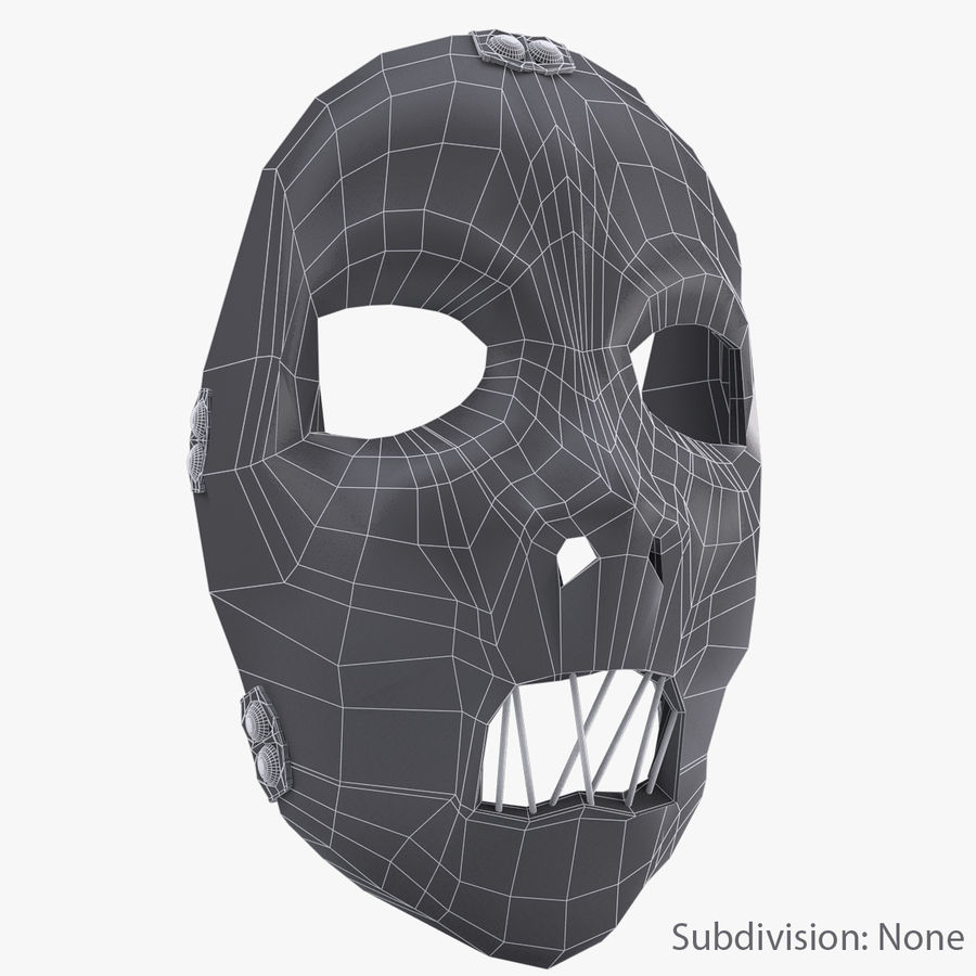 Mask SlipKnot royalty-free 3d model - Preview no. 9