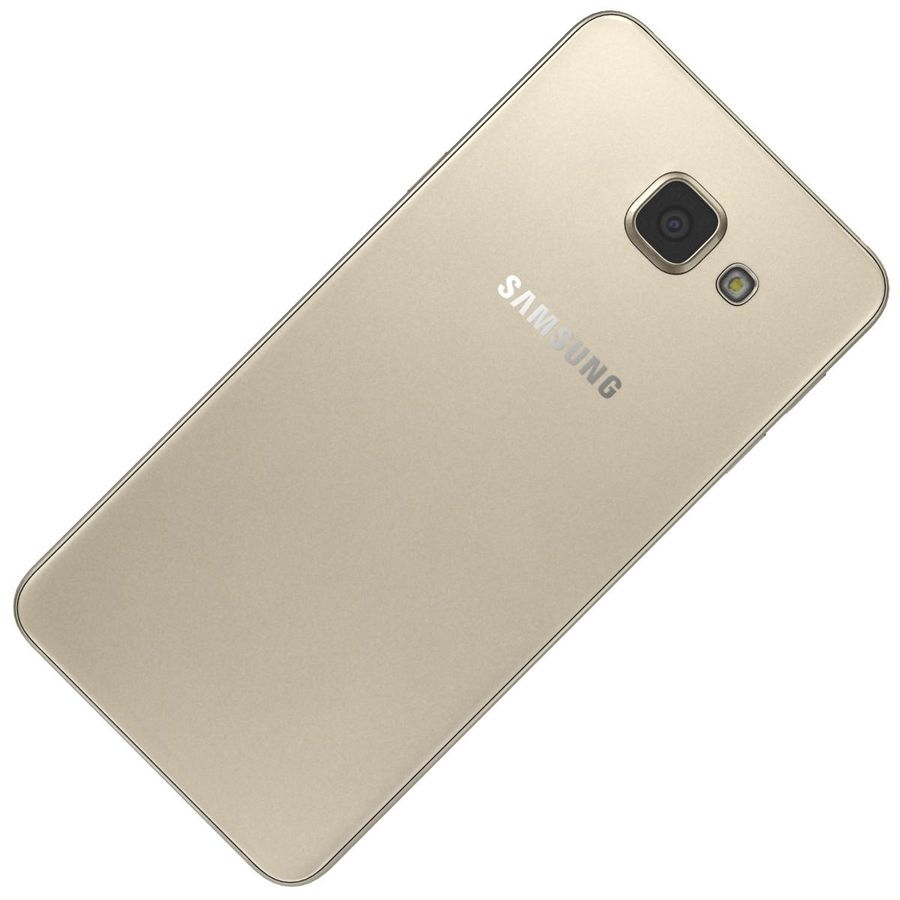 Samsung Galaxy A5 (2016) Guld royalty-free 3d model - Preview no. 19