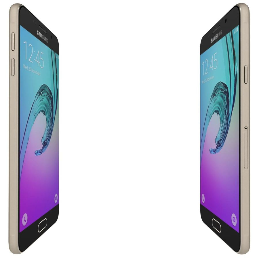 Samsung Galaxy A5 (2016) Guld royalty-free 3d model - Preview no. 10
