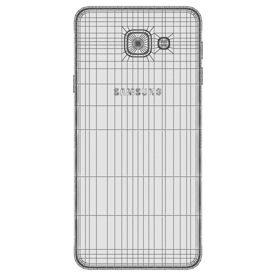 Samsung Galaxy A5 (2016) Guld royalty-free 3d model - Preview no. 28