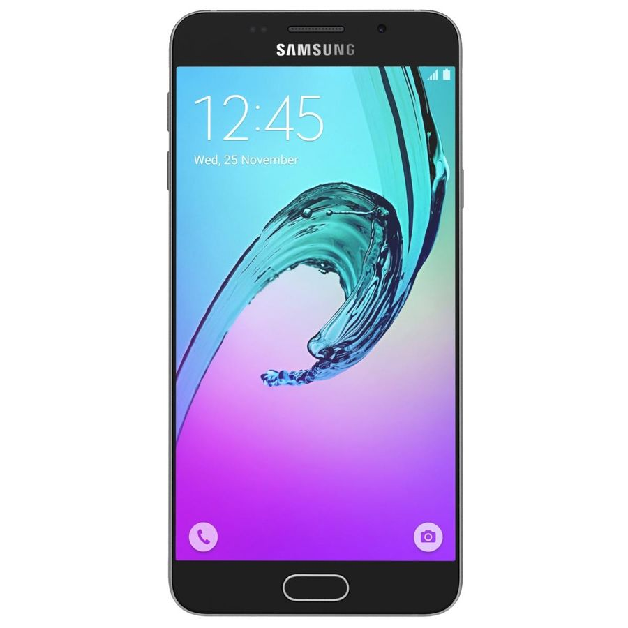 Samsung Galaxy A5 (2016) Guld royalty-free 3d model - Preview no. 6