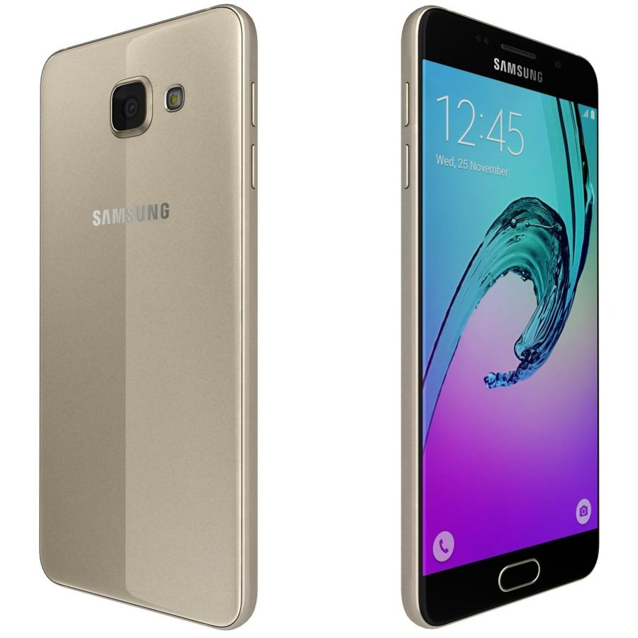 Samsung Galaxy A5 (2016) Guld royalty-free 3d model - Preview no. 5