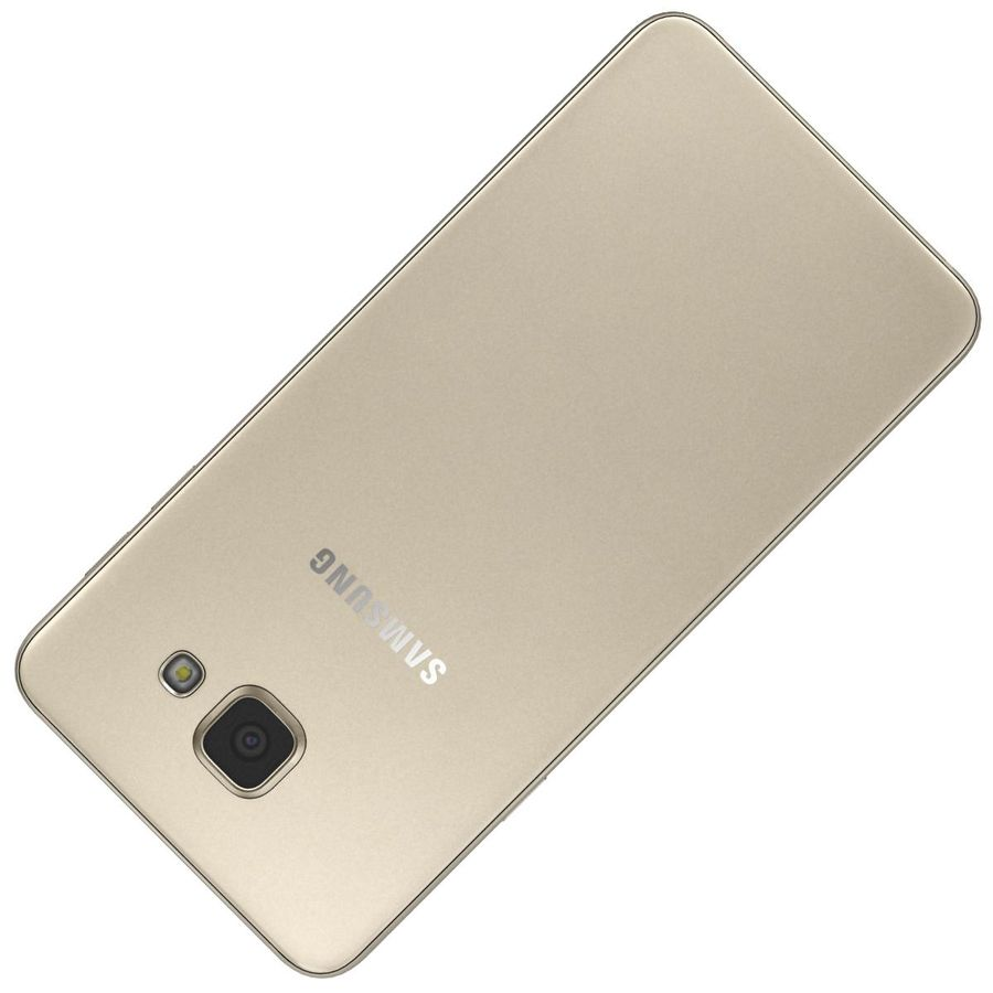 Samsung Galaxy A5 (2016) Guld royalty-free 3d model - Preview no. 20