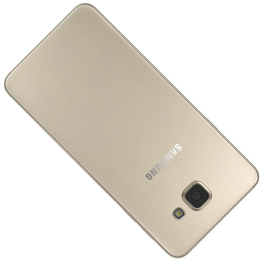 Samsung Galaxy A5 (2016) Guld royalty-free 3d model - Preview no. 21