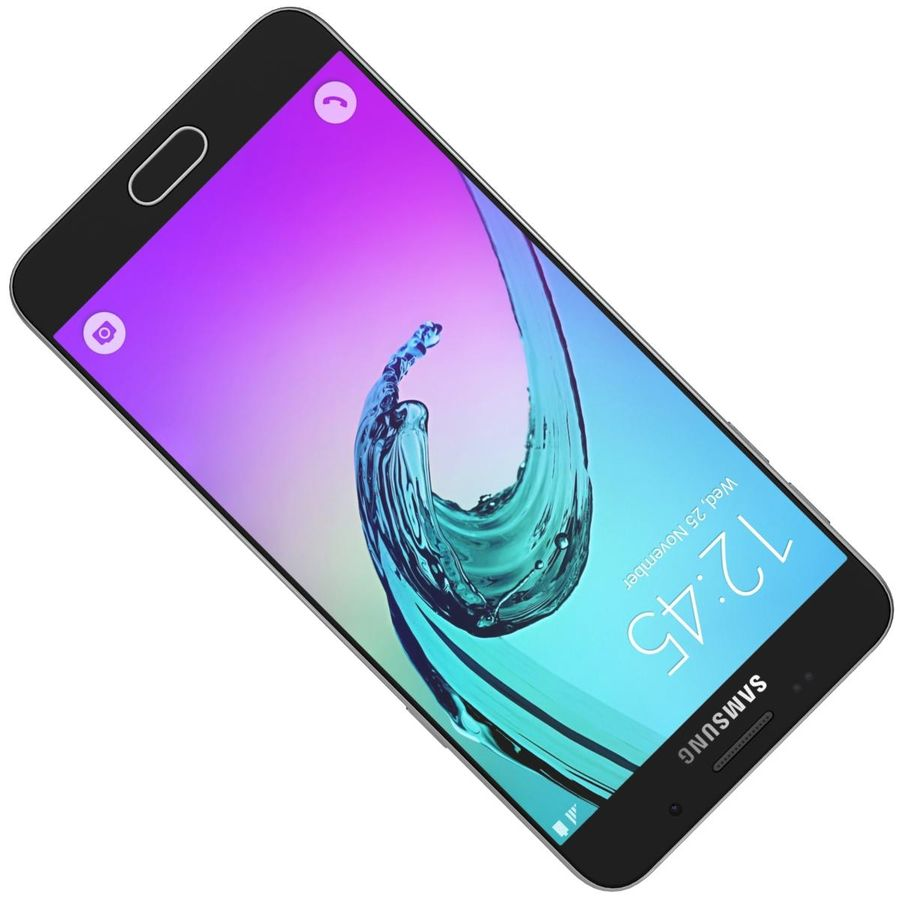 Samsung Galaxy A5 (2016) Guld royalty-free 3d model - Preview no. 16