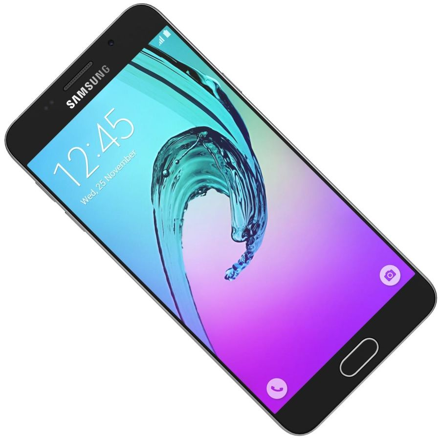 Samsung Galaxy A5 (2016) Guld royalty-free 3d model - Preview no. 18