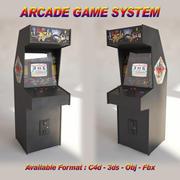 Arcade Game System 3d model