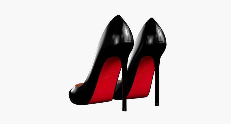 黑人女鞋 royalty-free 3d model - Preview no. 13