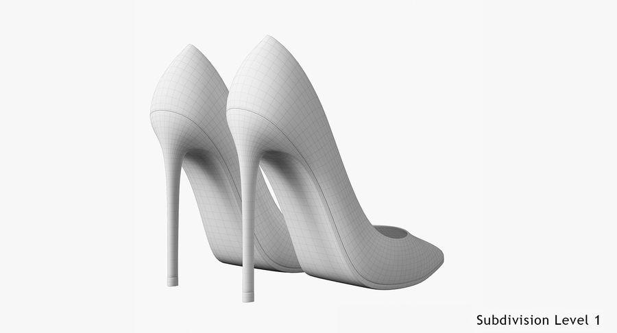 黑人女鞋 royalty-free 3d model - Preview no. 26