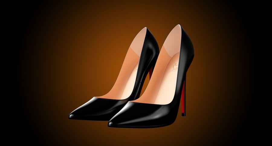 黑人女鞋 royalty-free 3d model - Preview no. 3