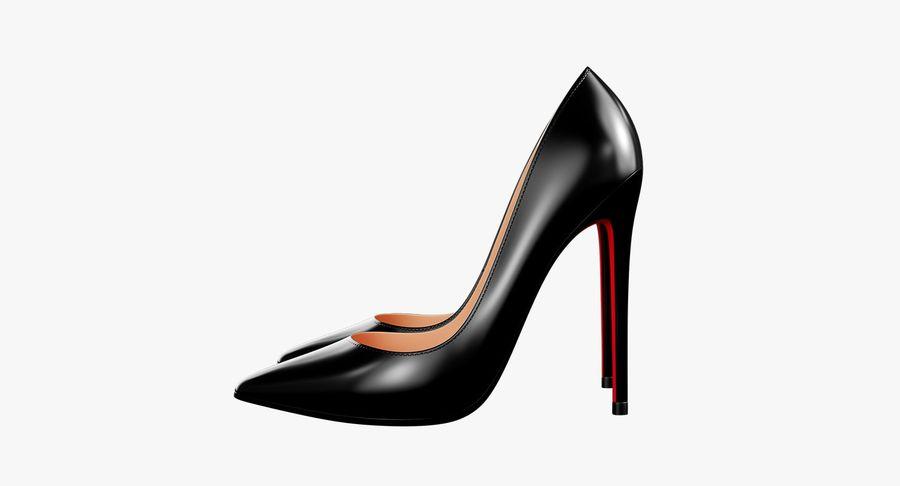黑人女鞋 royalty-free 3d model - Preview no. 14