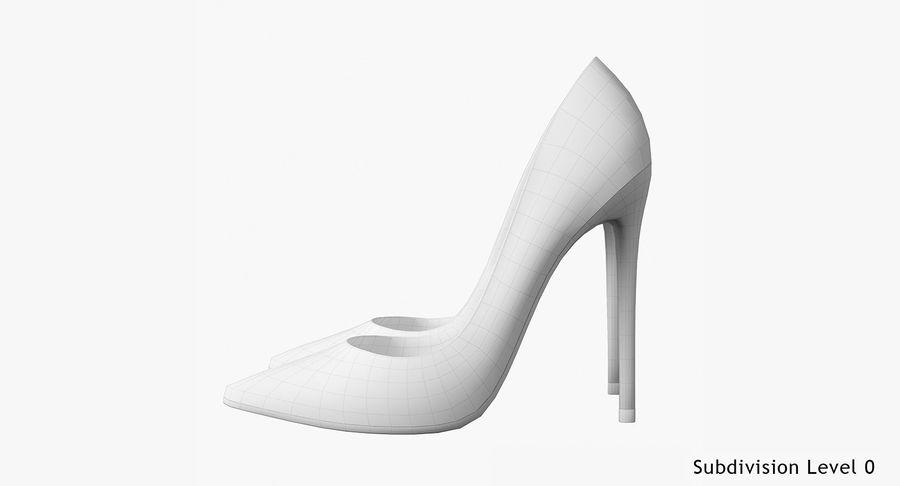 黑人女鞋 royalty-free 3d model - Preview no. 21