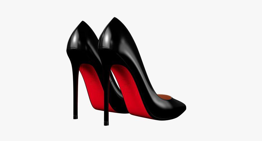 黑人女鞋 royalty-free 3d model - Preview no. 12