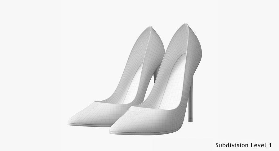 黑人女鞋 royalty-free 3d model - Preview no. 23