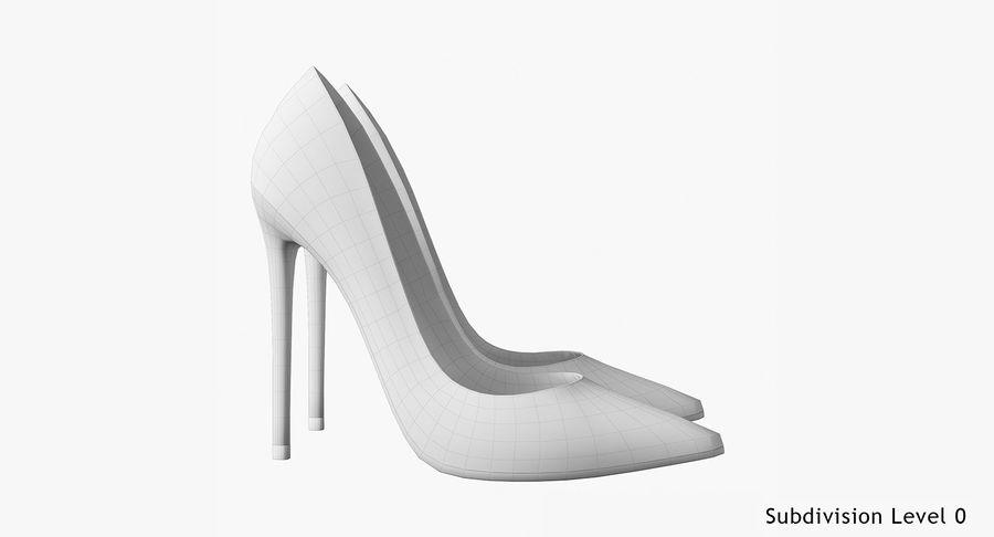 黑人女鞋 royalty-free 3d model - Preview no. 18