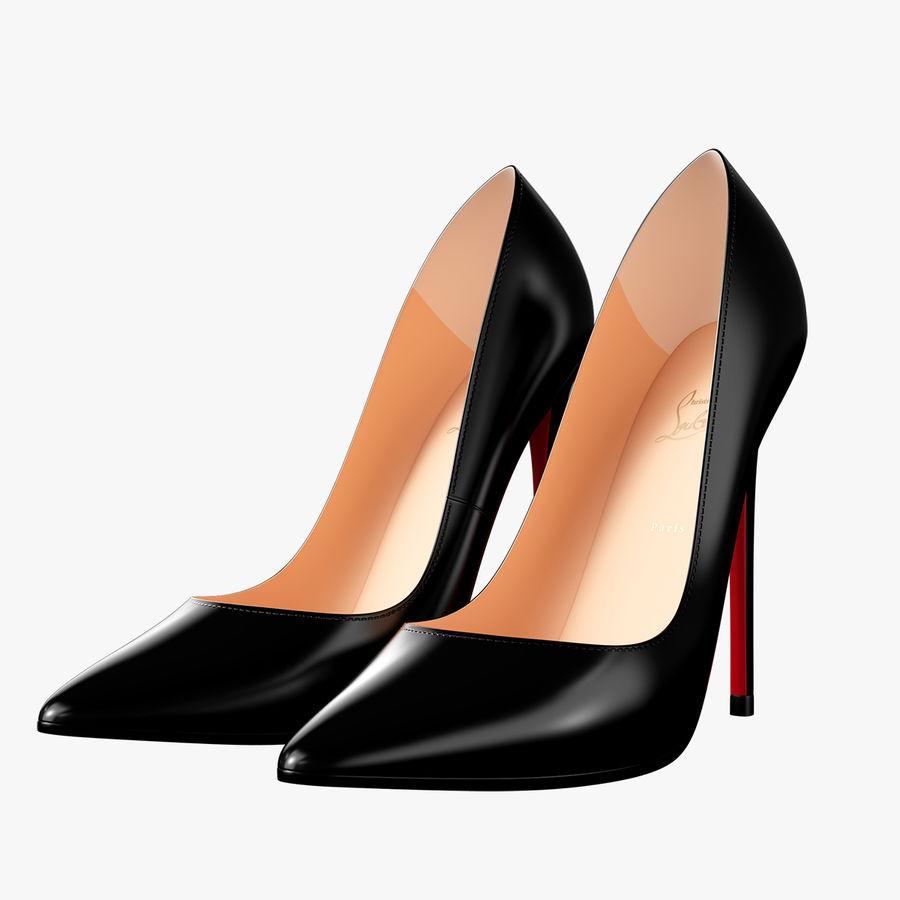 黑人女鞋 royalty-free 3d model - Preview no. 1