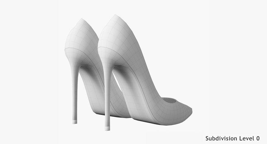 黑人女鞋 royalty-free 3d model - Preview no. 19