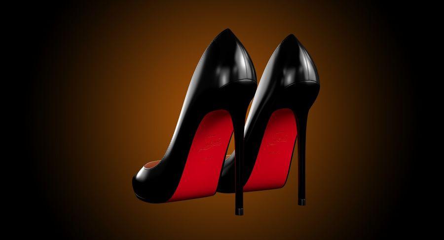 黑人女鞋 royalty-free 3d model - Preview no. 7