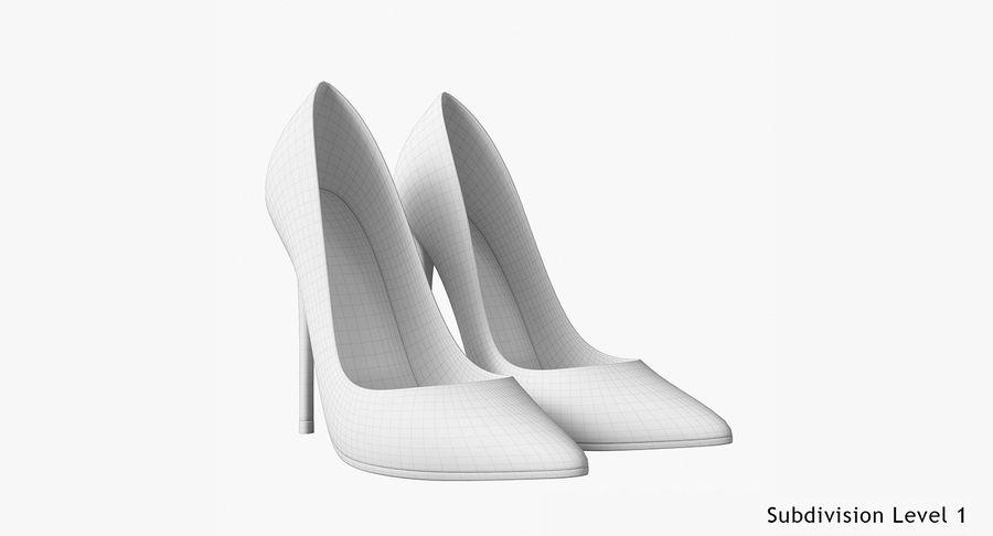 黑人女鞋 royalty-free 3d model - Preview no. 24