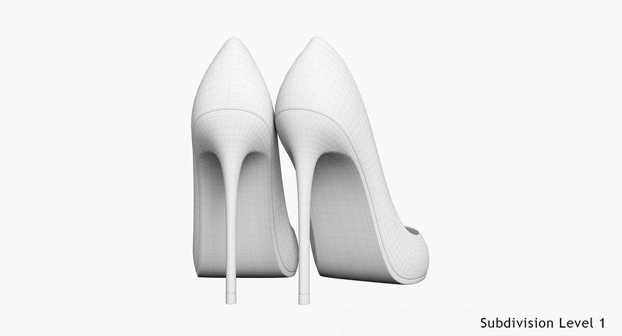黑人女鞋 royalty-free 3d model - Preview no. 29