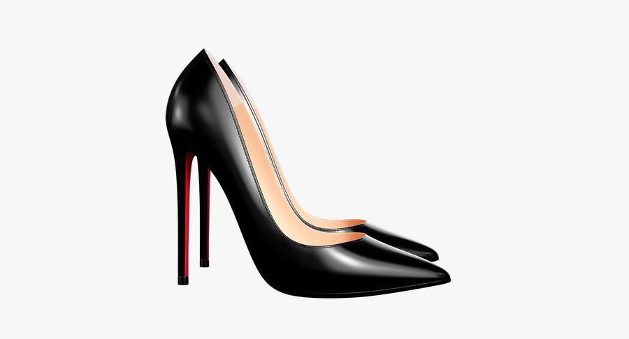 黑人女鞋 royalty-free 3d model - Preview no. 11
