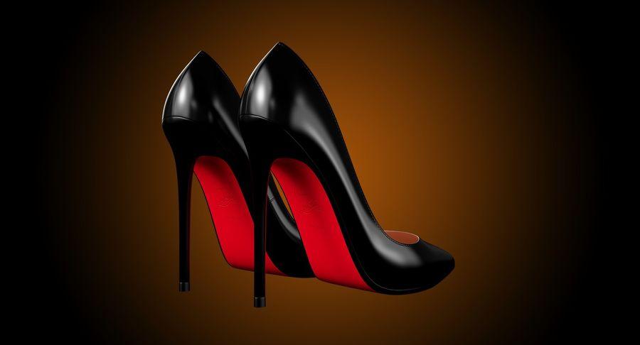 黑人女鞋 royalty-free 3d model - Preview no. 6