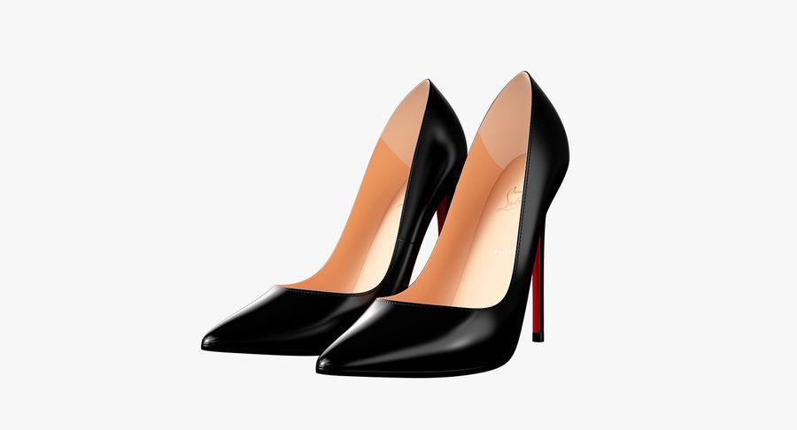 黑人女鞋 royalty-free 3d model - Preview no. 2