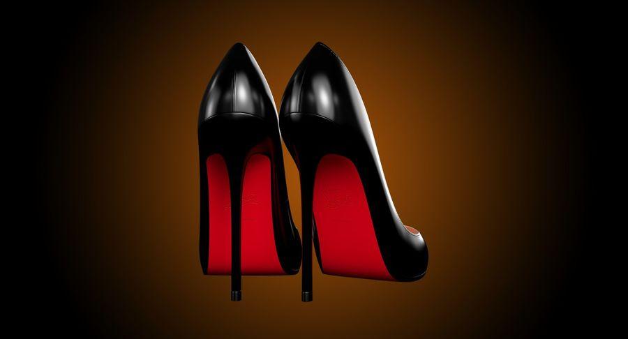 黑人女鞋 royalty-free 3d model - Preview no. 9