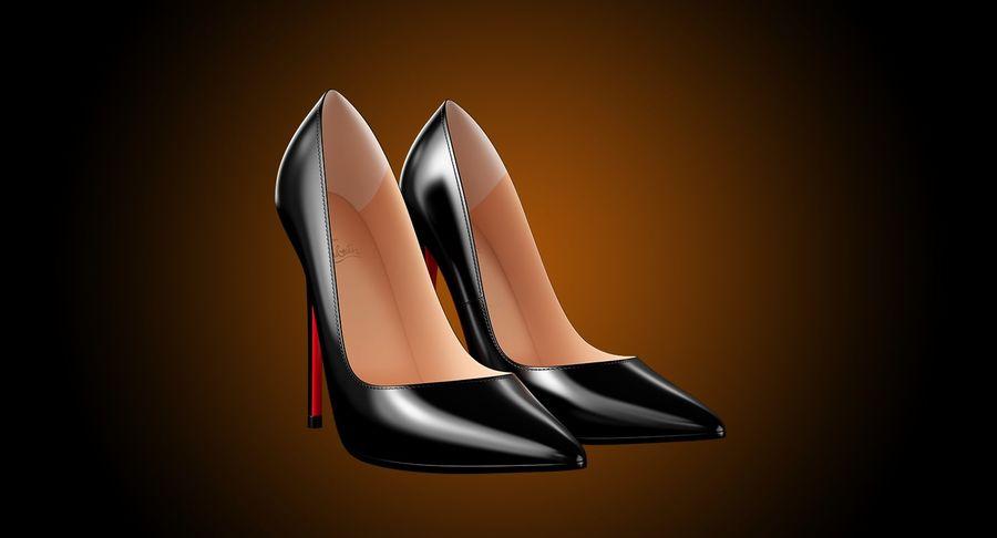 黑人女鞋 royalty-free 3d model - Preview no. 4