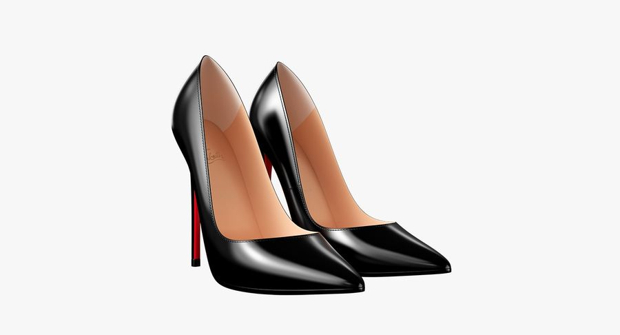 黑人女鞋 royalty-free 3d model - Preview no. 10