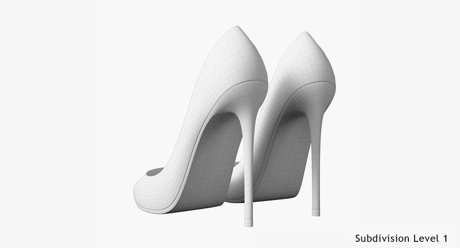 黑人女鞋 royalty-free 3d model - Preview no. 27