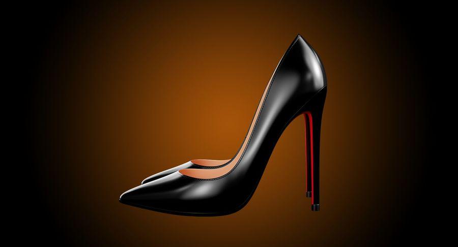 黑人女鞋 royalty-free 3d model - Preview no. 8