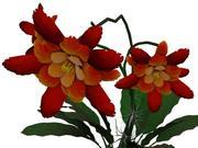 이국적인 꽃 3d model