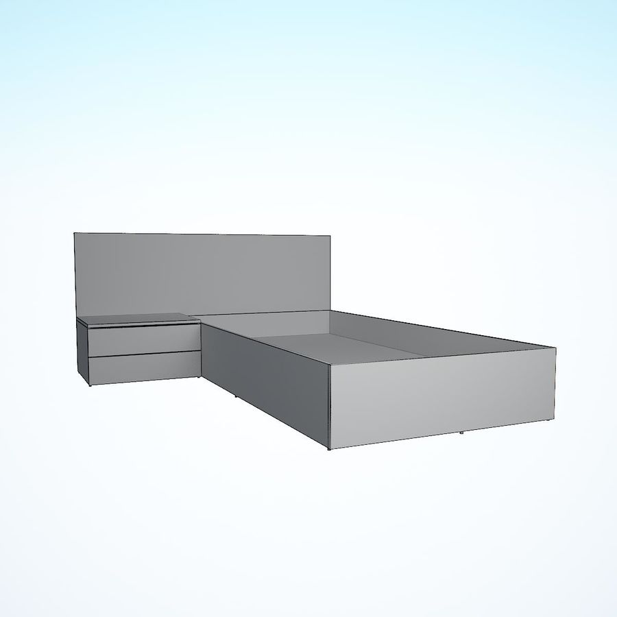 Realistic Bed 08 royalty-free 3d model - Preview no. 28