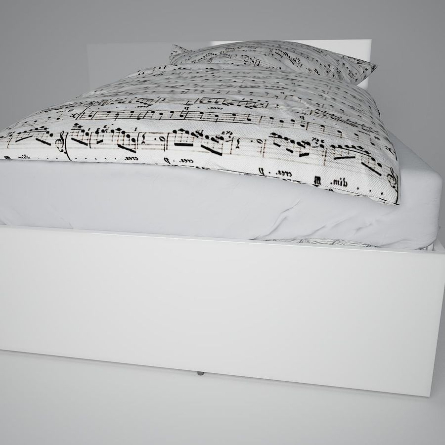 Realistic Bed 08 royalty-free 3d model - Preview no. 17
